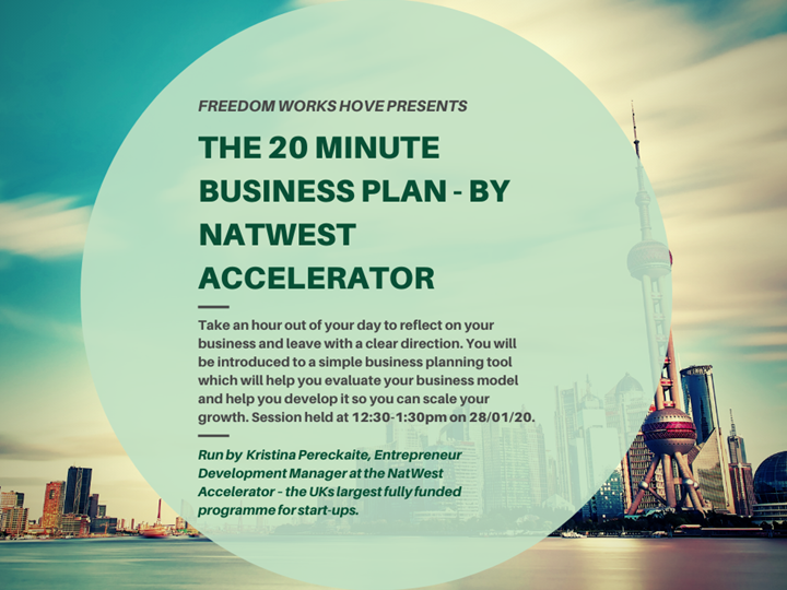 'The 20 minute Business Plan' - Freedom Works Hove