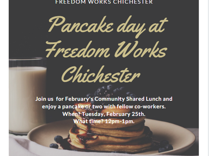 Pancake Day at Freedom Works Chichester