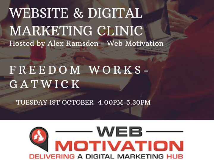 Website and Digital Marketing Clinic presented by Alex Ramsden of Web Motivation